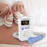 Wholesale 2 Mhz Professional Fetal Doppler Baby Monitor Digital Curve Mode LCD Screen Baby Heart Rate Detector