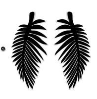 big leaf earrings - Fashion Tide Night Club Jewelry Accessories Hip Hop Big Long Leaf Stud Earrings For Women