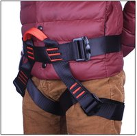 climbing harness - Harness Seat Belts Sitting Safety for Outdoor Rock Climbing Rappelling Equipment KN