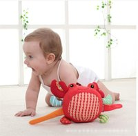 ball crab - Mamamiya Papas Baby bell cloth cotton ball hand grasp ball crab ball plush toys baby calm toys