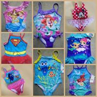 baby bikini pattern - Kids Swimwear New Mermaid Finding Nemo Baby bikini swim wear bikini Pattern Designs Girls Swimsuit One Pieces Swimming Clothing