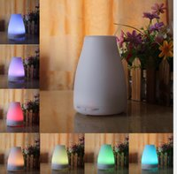 Wholesale Newest ml LED Aroma Humidifier Aromatherapy Essential Oil Diffuser Ultrasonic Cool Mist Function for Home Office Bedroom Room DHL FREE