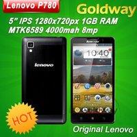 Precio de Lenovo p780-El teléfono móvil original de <b>Lenovo P780</b> MTK6589 Quad Core 4000mAh 5.0 '' cristal Gorilla 8Mp 1 GB de RAM Android 4.2 Multi Idioma Ruso