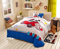 bedspreads and comforters - Cartoon Girls boys bedding kids bedding set twin duvet cover kids bedspreads mickey and minnie bedding sheet cotton Home Textiles