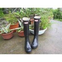 Wholesale 2016 Factory Direct sale Rain Boots Hunter Rubber Overknee Rainboots black waterproof rain boots hunter Muti color rain boots women Hot Sale