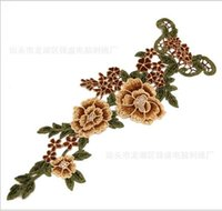 Wholesale Flower Trim Venise Applique Motif Embroidered Collar Trimming Sew on Patches Sewing Accessories