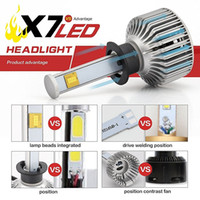 Wholesale 2016 New Car LED Headlight Conversion Kit w Lm K Cool White Cree Bulbs All in One Clear Arc Beam Kit