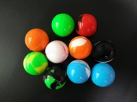 ball glass containers - Silicone No Stick Jar Stash Container ML Glass Tank Launch Box Vaporizer Stash balls Wax Storage Stash jars for Oil Rigs Dab Ribs