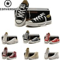 converse all stars - 2016 original real converse low high shoes white black casual shoes converse all star shoes women men canvas lovers women men