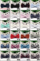 Wholesale New arrival Men s Fashion Tuxedo business grid Butterfly Wedding Party Bow tie Red Black White Green Bow Tie L104