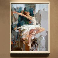 ballet dancer artist - 2015 Artist New Design High Quality Modern And Impression Dancer Oil Painting On Canvas Beauty Lady Dancing Ballet Oil Painting
