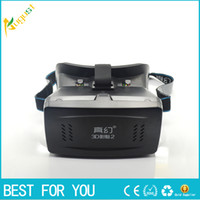 Wholesale RITECH II Head Mount Plastic Version VR Virtual Reality Glasses magnet Control Google Cardboard for D Movies Games phone D glasses