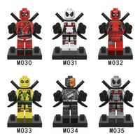 Wholesale 120pcs Deadpool MinifiguresSuper Heroes Building Blocks Sets Model Figures Toys