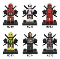 Wholesale 120pcs Deadpool MinifiguresSuper Heroes Building Blocks Sets Model Figures Toys