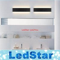 background designer - 2016 New Designer Black White LED Stairs bedroom living room background lamp lights Aluminum Bathroom mirror light wall sconces