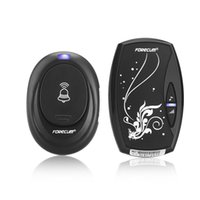 Wholesale EU Forecum Home Office Waterproof Cordless Smart Door Bell Plug in Type Wireless Doorbell with Chimes Single Receiver