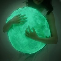 Wholesale 40cm Cute Creative Luminous Pillow Fluorescent Christmas Moon Birthdaystuffed Gift Noctilucent Pillows Plush Toy