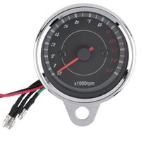 Wholesale 13000 RPM Scooter Motorcycle Analog Tachometer Gauge Night Light Motorcycle Instruments Scooter Speed Indicator