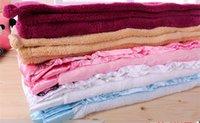baby good bath towel - 1pc Super good sense rolled up coral fleece blanket baby soft blankets to bath towel TRQ0130