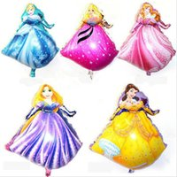 aluminium suppliers - 73 cm New Cartoon Princess Helium Foil Balloons Princess Birthday Party Suppliers Baloes Inflatable Toys for Kids