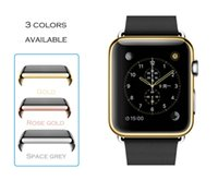 Wholesale URVOI metal electroplating case for apple watch full cover for i watch shelter screen film protector slim fit