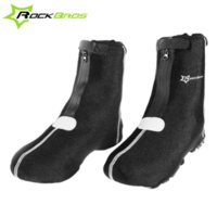 Wholesale ROCKBROS Outdoor Sports Cycling Shoe Warmer Covers MTB Mountain Bike Thicken Windproof overshoes Free Size Black