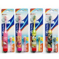 Wholesale Children electric toothbrush electric ultrasonic Replacement Heads For Children D cartoon toothbrush toothbrush by DHL Free Ship