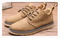 al por mayor hombres botines-2016 de calidad superior caliente de la manera zapatos de los hombres del resorte del otoño del tobillo Botas cómodo Tamaño LeatherAnkle botas de cuero de vaca Hombres Martin Euro 39-44