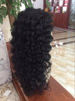 Wholesale 6A Synthetic Lace Front Hair wig Black Color Natural Life Style Deeo Wave Synthetic Lace Front wig For Black Woman