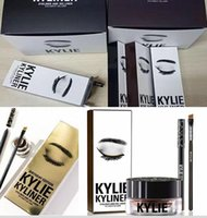 Wholesale 2016 Kylie Kyliner Cosmetics By Kylie jenner lip kit makeup In Brown Black Birthday Edition Dark Bronze with Eyeliner Gel pot Brush Set DHL