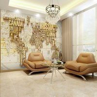 Plant applied materials - Modern D environmental non woven wall stickers large English map applies restaurant bedroom living room sofa background