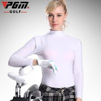 apparel tshirts - PGM Golf Sunscreen UV Womens Ice Tshirts Summer Outdoor Sport Clothing Viscose Shirt Underwear Long Sleeve Clothes Golf Apparel S035