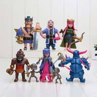 archer gifts - 8pcs set CM Clash of Clans Barbarian King Archer Queen PVC Doll Figure Model Toys For Boys Gift