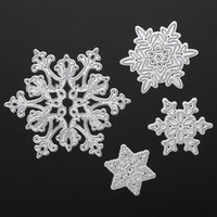 Wholesale 4pcs Set Christmas Snowflake Steel Cutting Dies Stencils For DIY Scrapbooking Album Paper Card Diary Hand Craft Embossing Decor