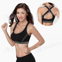 Wholesale 2016 Hot Sexy Woman Sportswear Fitness Running Clothes For Women Jogging Yoga Racerback Sports Bra Padded Underwear Tennis Vest Top Free DHL
