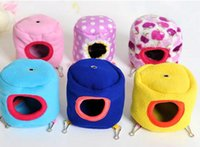Wholesale 10pcs Tree Stump Shape Small Pet Bed Hamster Cage Bed Toy Gerbil Cages Accessories Bird Toy With Mat