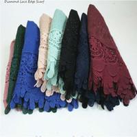 Flores de lujo del bordado de la bufanda de Diamont del lujo bordan los mantones bufandas llanas Cosy bordan la manera musulmán Hijabs Echarpe que destella FS1297