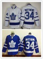best leaf - 2016 Draft Newest Maple Leafs Jerseys Auston Matthews Jersey Ice Hockey Jerseys White Blue Stitched Best Quality Can Mix Order