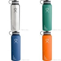 Wholesale Colorful Hydro Flask oz Vacuum Insulated Water Bottle ml Stainless Steel Tumbler Water Bottle cold insulation CUP DHL