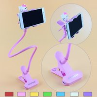 android desk phone - Creative Cartoon Universal Lazy Android Mobile Phone Clip Holder GPS Desk Bed Stand Bracket Rotating Mount For iPhone S S Plus