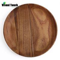acacia wood plates - cm in Dia Round Nature Healthy Acacia auriculaeformis Wood Pizza Plates Salad Serving Tray Platos Sushi Plate dinnerware