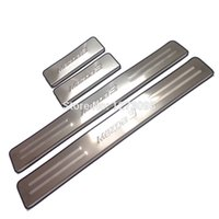 Wholesale 2014 Mazda Ultra thin Stainless Steel Scuff Plate Door Sill Strip Welcome Pedal for Mazda Car set Accessories