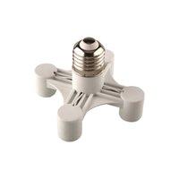 Wholesale 4in1 E27 E14 Base Home Office Bar Light Bulb V Socket Efficient Splitter PBT Durable Adapter
