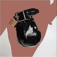 Wholesale Male Locking Penis Prison Ball Scrotum Zippered Bondage Pouch Black Leather Cock Cage Restraint for Male Chastity Device Sex Toy