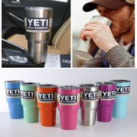 Wholesale 7 Solid Color Stainless Steel Yeti Coolers Vacuum cup Double walled Vacuum Insulated YETI Cup Cars Beer Mug
