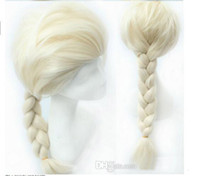Wholesale Hot Sale Princess Dairy Queen Elsa Hair Wigs Frozen Cosplay Wig Ice Snow Queen White Braid Hairpiece
