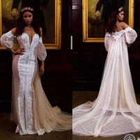 beach clock - Berta Wedding Dresses With Clock Lace Front Split Bridal Gowns Sweep Train Summer Beach Wedding Dress