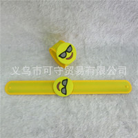 Wholesale Emoji Smiley Pillows Slap Snap Bracelets Magic bracelet for new style Christmas year gifts quick ship ZD136C