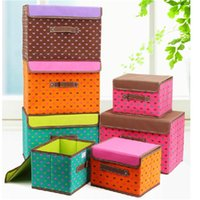 Wholesale New Multifunction Colors Foldable Clothing Organizer Clothing Storage Box For Bra make up organizer Non Woven Fabric two piece