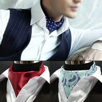 ascot scarf men - Fashion Ascot Tie Cravat Luxury Mens dots Neck Tie Scarf Self Tie for Men Wedding Scarf